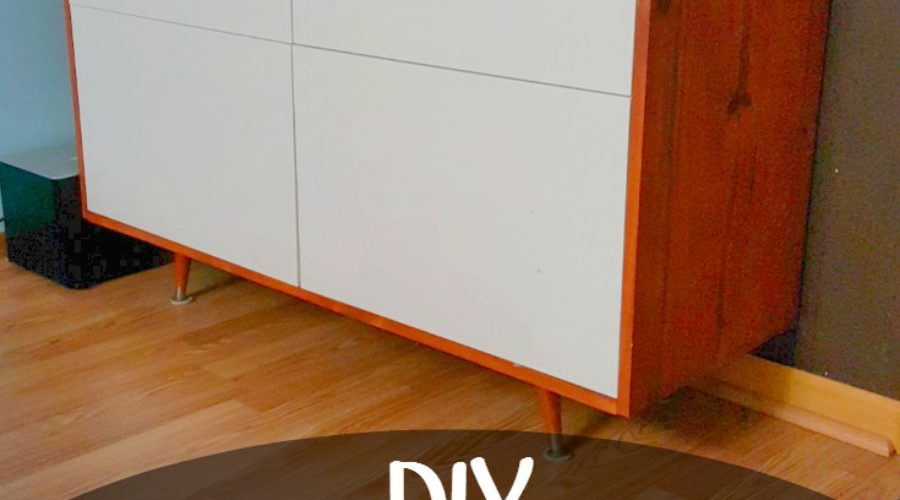 DIY Mid Century Modern Cabinet