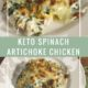 Keto Spinach Artichoke Chicken