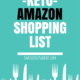 Keto Amazon Shopping List